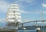 総帆展帆と新湊大橋